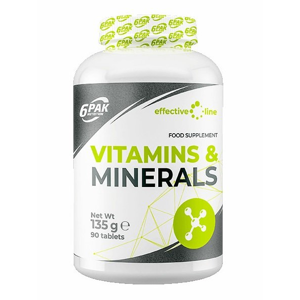 Vitamins and Minerals - 6PAK Nutrition 90 tbl.