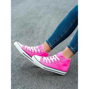YBK-2FL/ROSE/R Luxusní dámské růžové tenisky bez podpatku - EU 36